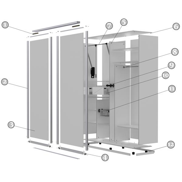 Удобная схема шкафа купе