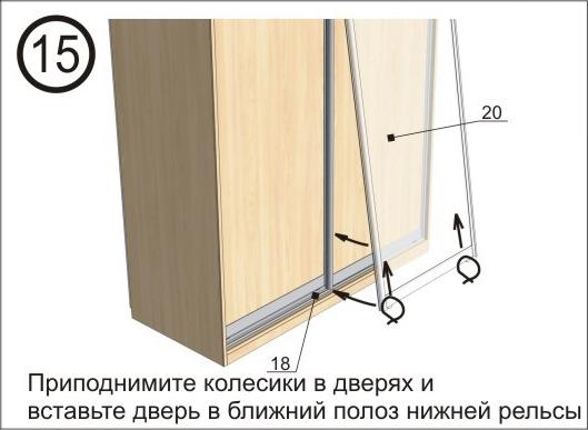 Сборка шкафа купе Киев