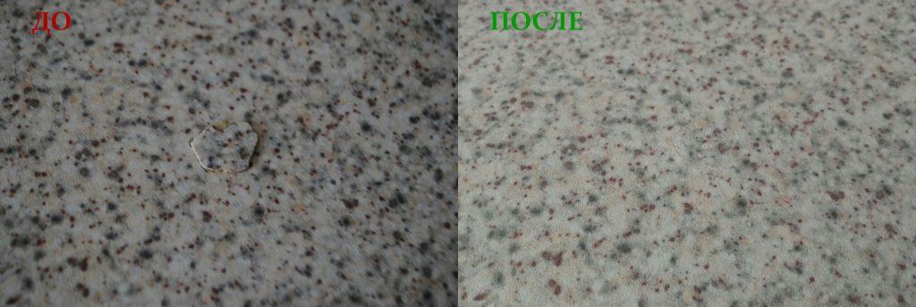 частичная реставрация кухонной столешницы