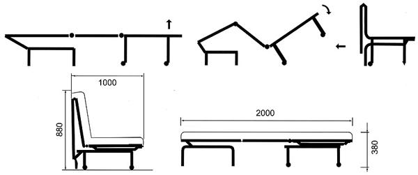 Схема раскладывания