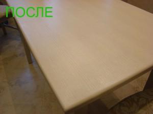 Частичная реставрация столешницы стола (белый дуб) - после