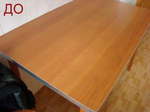 частичная реставрация столешницы стола из ДСП
