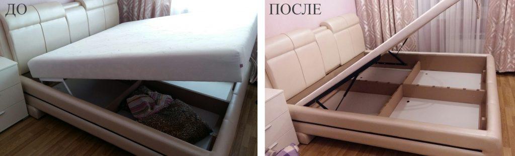 реконструкция кровати с каркасным матрасом